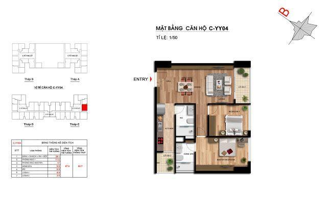 Căn hộ số 04 tầng trung tòa C dự án Imperia Garden Thanh Xuân, Hà Nội