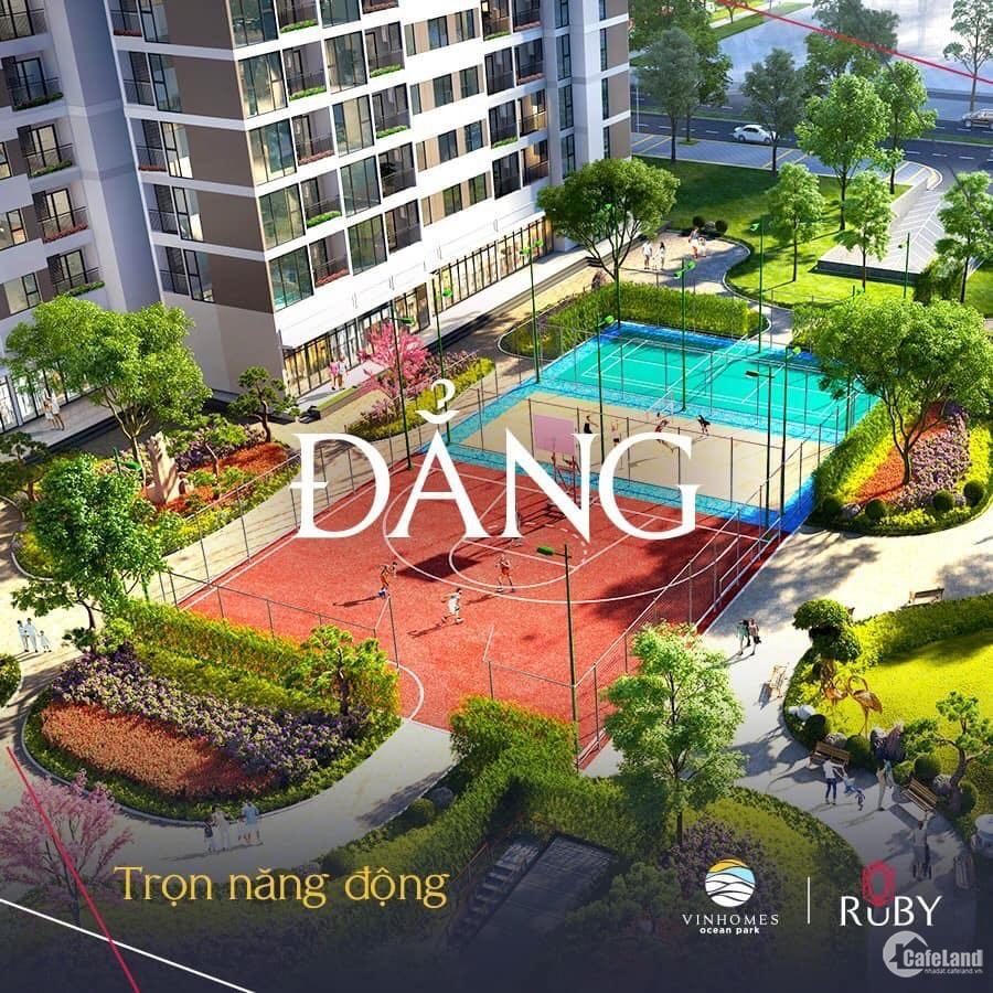 Mở bán Tòa căn hộ cao cấp Ruby Vinhomes Ocean Park, bàn giao full nội thất liền tường.