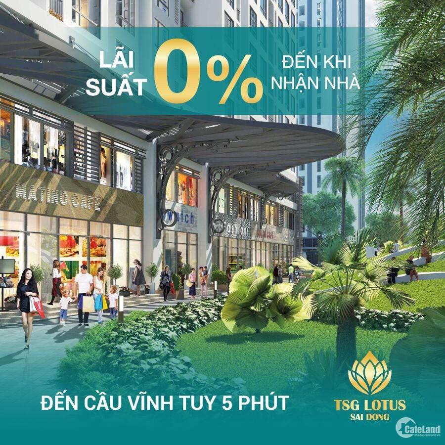 Ra mắt căn hộ mẫu TSG Lotus Sài Đồng với nhiều ưu đãi quà tặng hấp dẫn.Giá: 24tr
