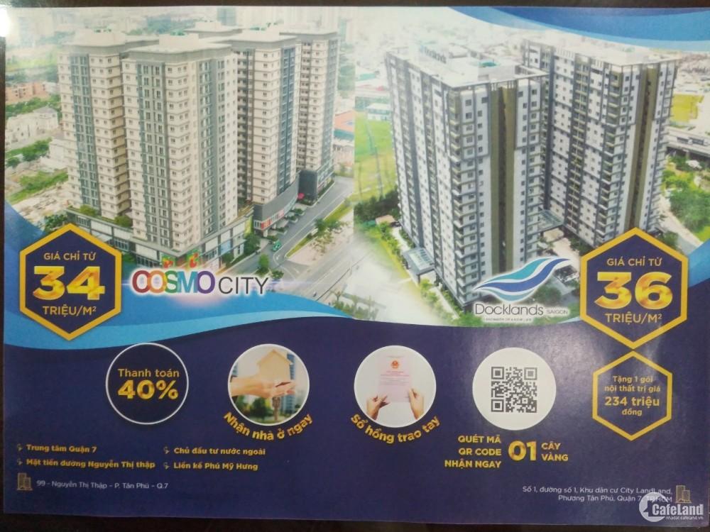 Bán căn hộ cao cấp Cosmo City Quận 7 giá đầu tư cực rẻ, nhiều ưu đãi.
