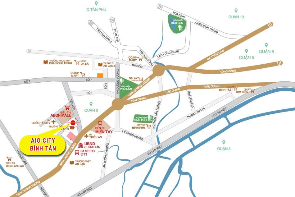 Căn hộ chung cư trên mặt tiền đường Tên Lửa liền kề Aeon Mall Bình Tân