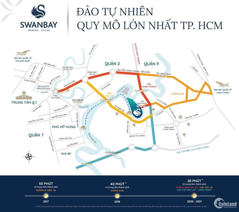 SWANBAY CITY BIỆT THỰ NGHỈ DƯỠNG BÊN SÔNG SÀI GÒN- LH: 0977257387