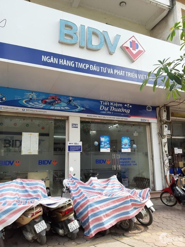 Bán nhà mặt phố Trần Khát Chân lô góc, đang cho ngân hàng thuê, vỉa hè rộng, giá
