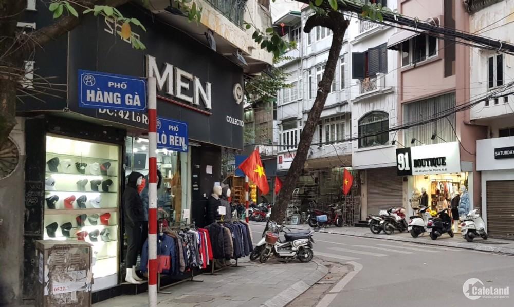 Bán nhà 3 tầng phố Hàng Gà, vị trí trung tâm nhất phố, tiện kinh doanh
