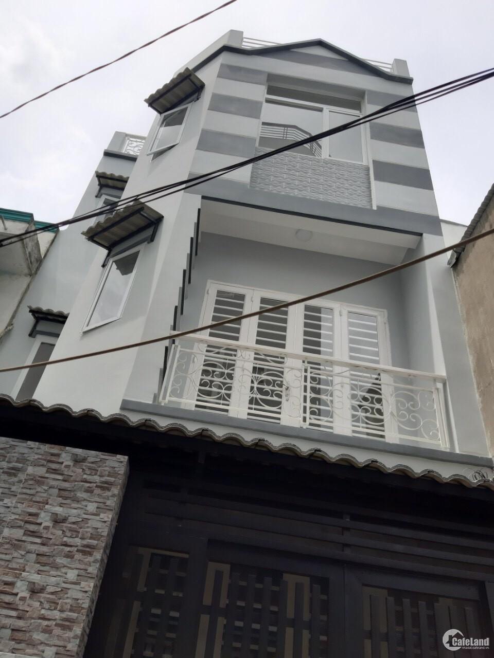 Nhà mới xây phường4 quận8 4.5x10m nở hậu 5m