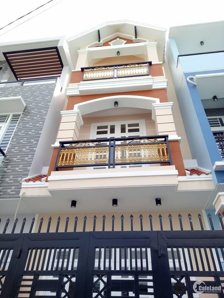 Nhà MT 8m,sổ hồng riêng,dt:4x12,LK5-6quận Bình Tân