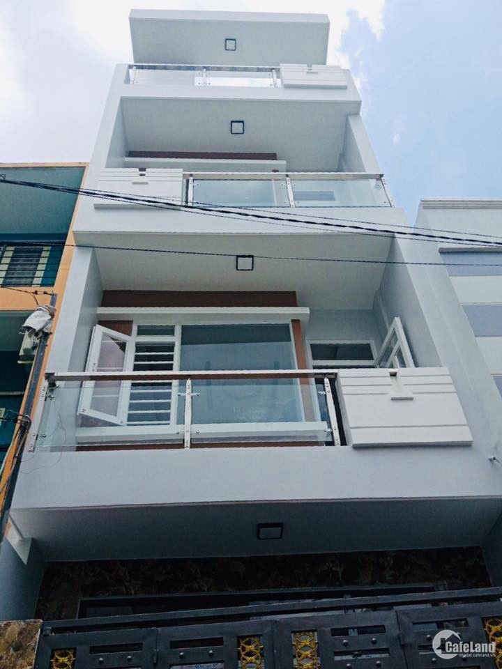 Nhà 1 trêt 3 lầu, MT Đường số 6, dt 4x12m2 đã có SHR