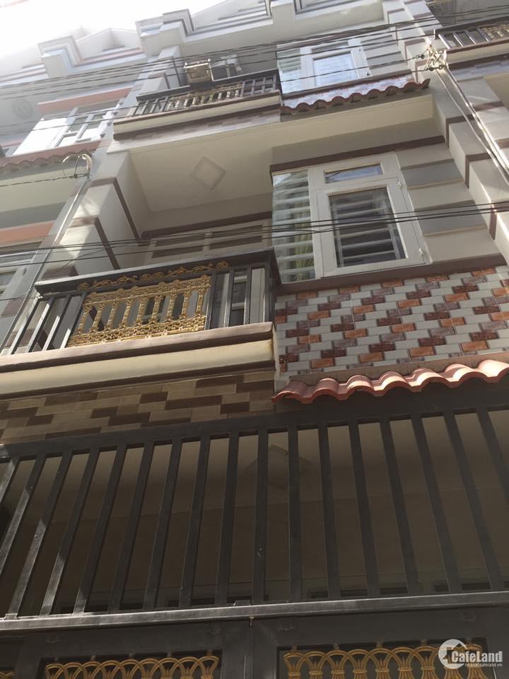 nhà gần cầu vượt quang trung, 1 trệt 2 lầu, dtsd 75m2 giá 1ty380