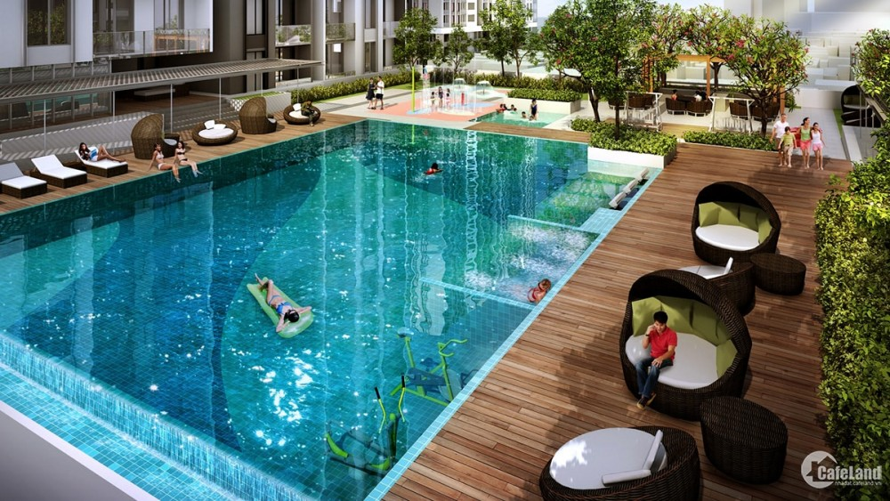Cho thuê CH 2PN+1 view hồ bơi, chỉ 22 triệu dự án Hà Đô Centrosa Garden