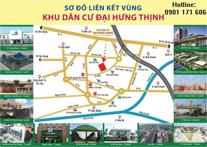 9.Đất đầu tư sinh lợi cao. Ngay thị trấn Cần Giuộc ( cạnh KCN Tân Kim), giá chỉ từ 600tr , DT gần 100m2. Thiện chí gọi tôi 0901 171 606