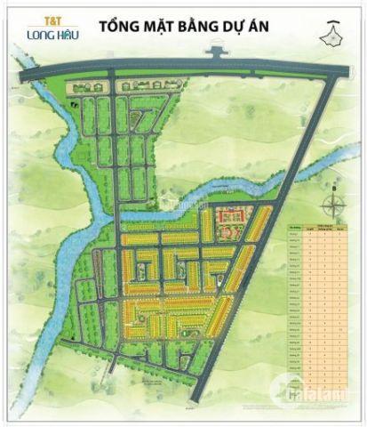 Cần bán nhanh lô nền đường 12 dự án T&T Long Hậu, sổ đỏ cầm tay. Giá tốt nhất khu vực