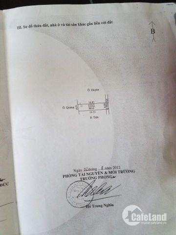 Bán lô đất sổ đỏ thổ cư gần ngã tư Trạm Trôi, Hoài Đức, giá 950 triệu.