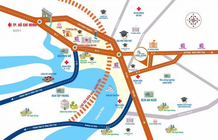 Đất nền trung tâm hành chính huyện Long Điền, cách biển  Long Hải 5 phút.