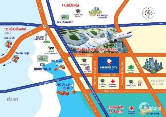 Đất nền MT 32m, liền kề sân bay Long Thành, SHR, chỉ 6,5 tr/m2.