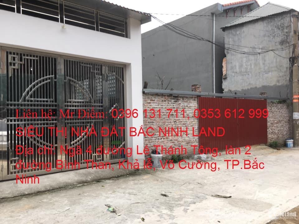 Chính chủ cần bán lô đất thổ cư tại khu Khả Lễ, Võ cường, TP.Bắc Ninh