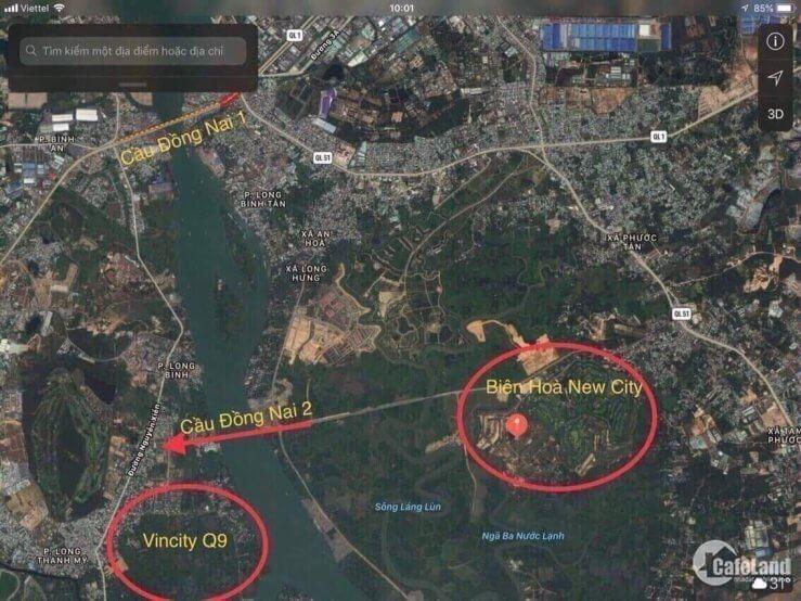 Ra gấp 3 lô nhà phố Biên Hòa, View công viên, 15 triệu/m2, Sổ Đỏ riêng, MT 60m