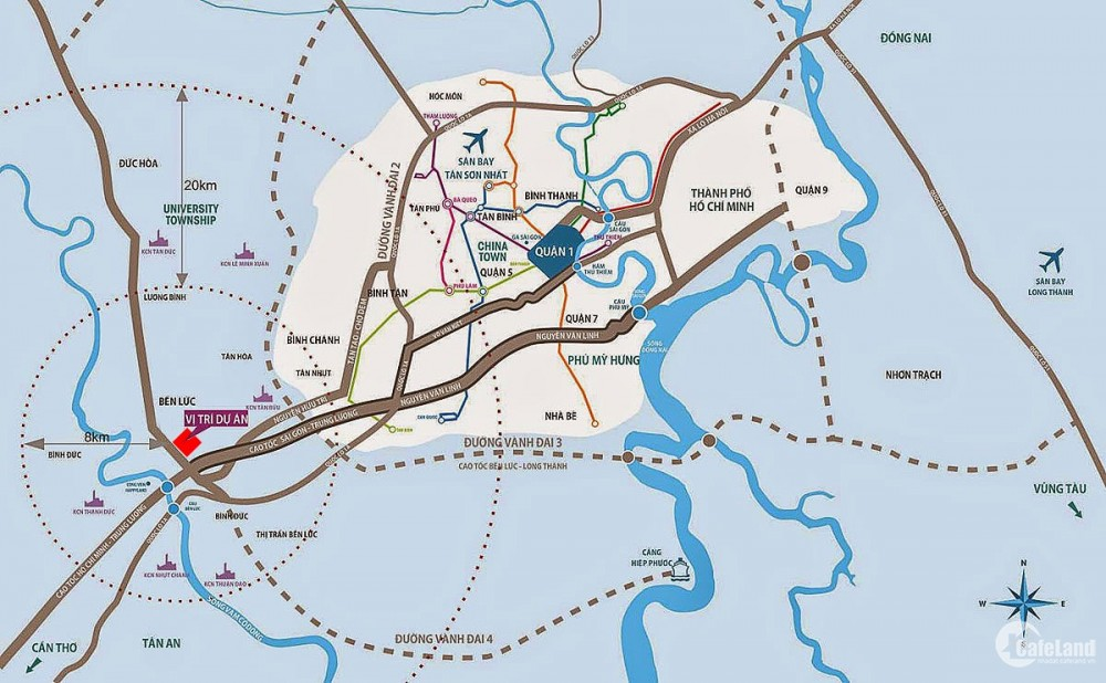 Mời khách hàng đăng ký tham quan dự án Water Point Bến Lức của Nam Long Lh 0938677909