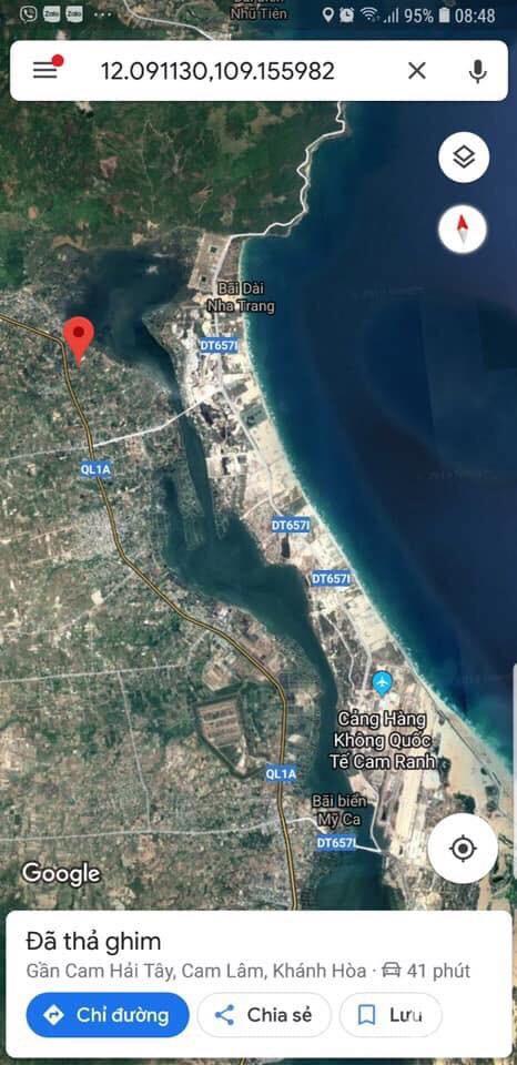 Đất nền giá tốt, thổ cư 100% gần sát các khu RESORT và sân bay Cam Ranh