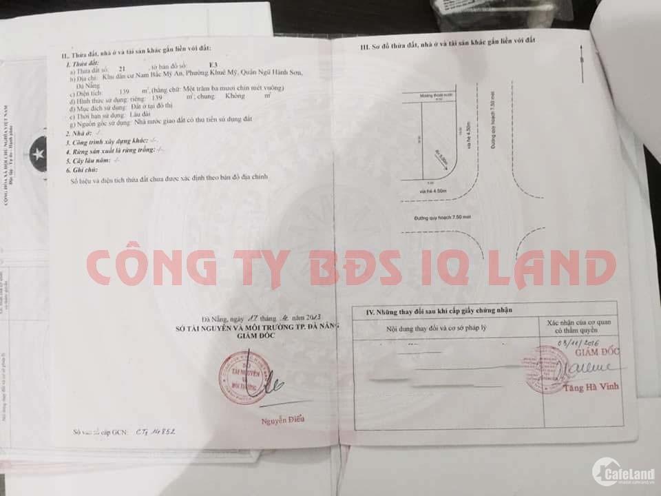 Chính chủ cần bán lô đất 2 mặt tiền đường Nguyễn Xiển và Nguyễn Đình Trân