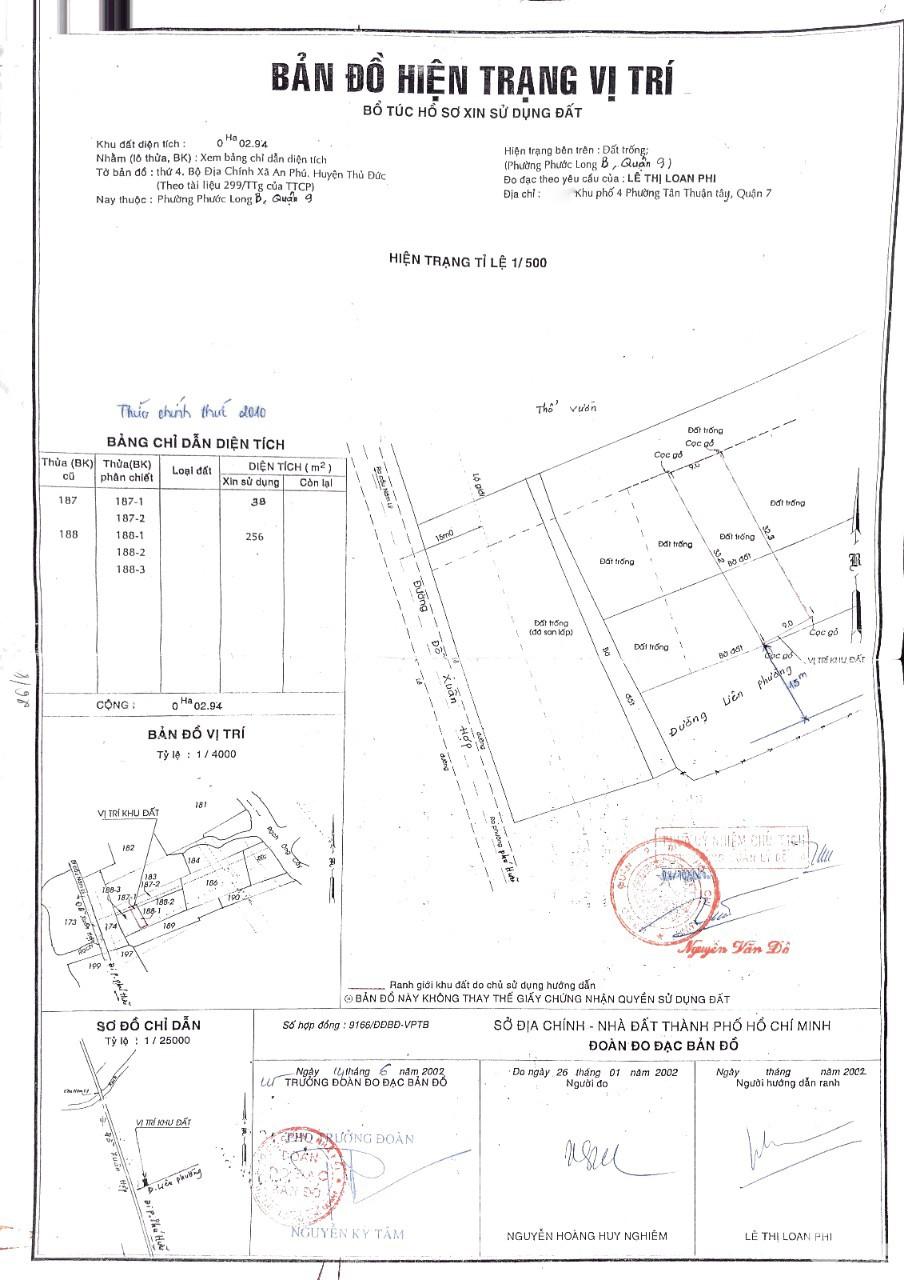 Bán đất khu vực quận 9 với nhiều diện tích khác nhau giá từ 1 đến 10 tỷ LH: 0933334829