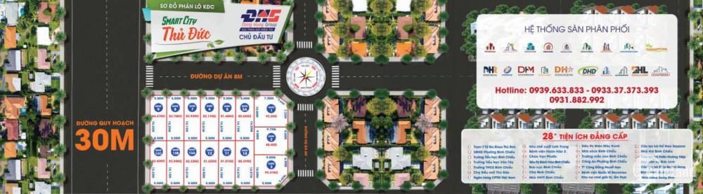 Bán lô đất dự án Smart City đường Ngô Chí Quốc, SHR, XDTD