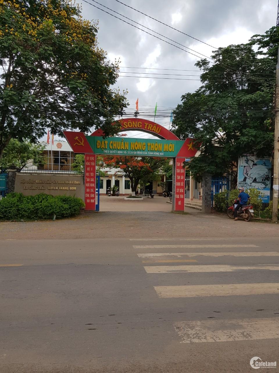 Đất sổ riêng 5x20 gần ủy ban xã sông trầu,giá 245 Triệu