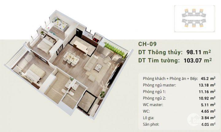 Bán căn góc số 16 toà B, tầng trung, CC IMperia Sky Garden - 423 Minh khai giá đợt 1