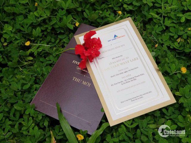 Hot! Phần quà đặc biệt dành cho tại sự kiện Ra mắt Five Star West Lake ngày 16/06 Kỳ nghỉ 6* trên du thuyền siêu sang dành cho hai người