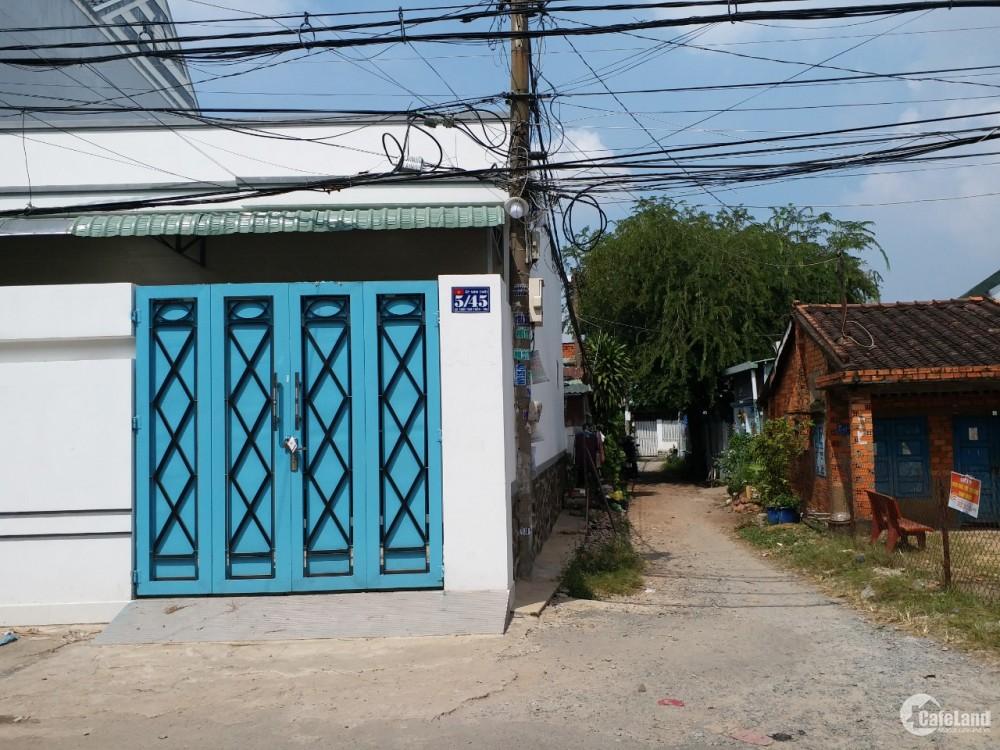 Cho thuê nhà 64m2 ngay ngã ba 3 chùa, gần chợ Hóc Môn, giá tốt