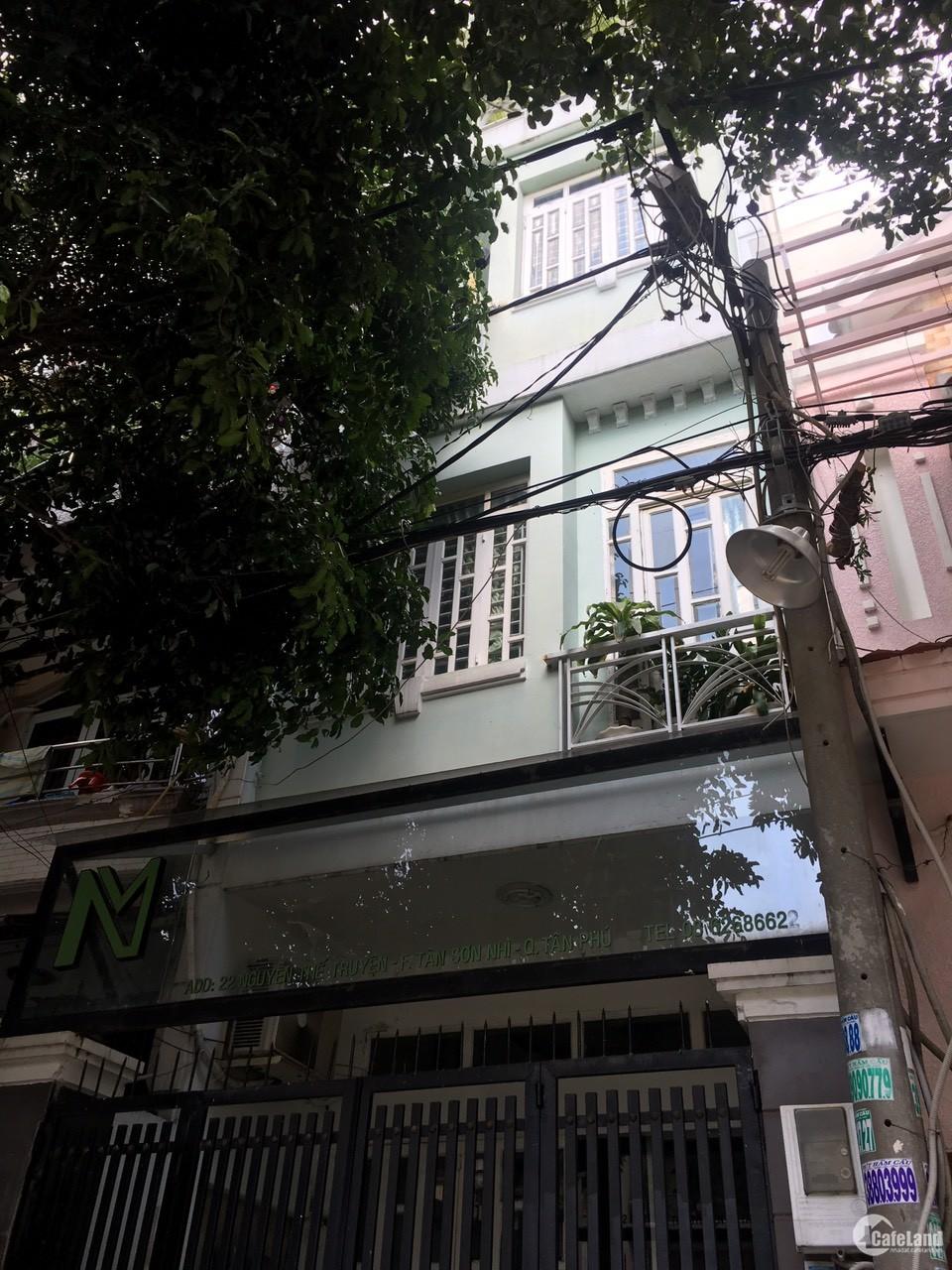 Cho thuê nhà Nguyễn Thế Truyện P,Tân Sơn Nhì Q,Tân Phú   4x18 2 lầu st  20tr/th