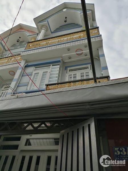 Cho thuê nhà 3 lầu Tân Thới Hiệp, quận 12, sát siêu thị Metro Gò Vấp