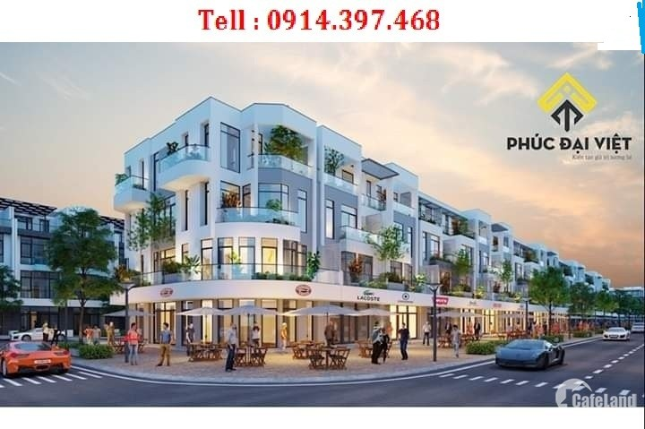 Nhà phố kinh doanh 2 mặt tiền đường Nguyễn Sinh Sắc. +914.397.468