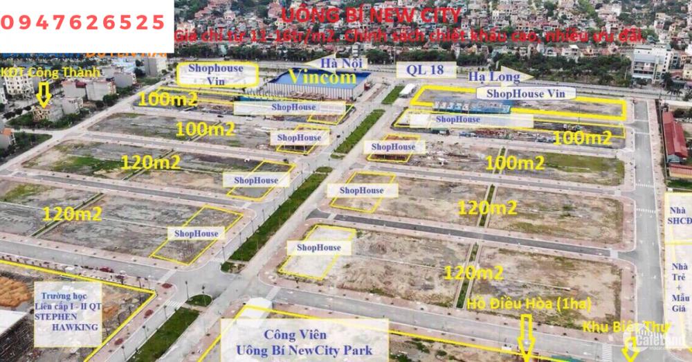 bán đất nền đã có sổ đỏ, trung tâm thành phố uông bí
