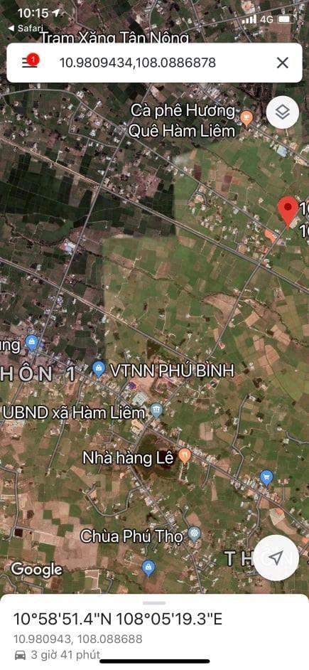 Đất xào đất mẫu đất thổ cư 3 trong 1 xã Hàm Liêm mặt tiền đường nhựa dẫn cao tốc