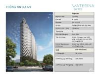 Mở bán căn hộ Nhật Bản Waterina Suites Quận 2, TT 50% nhận nhà, CK: 8%