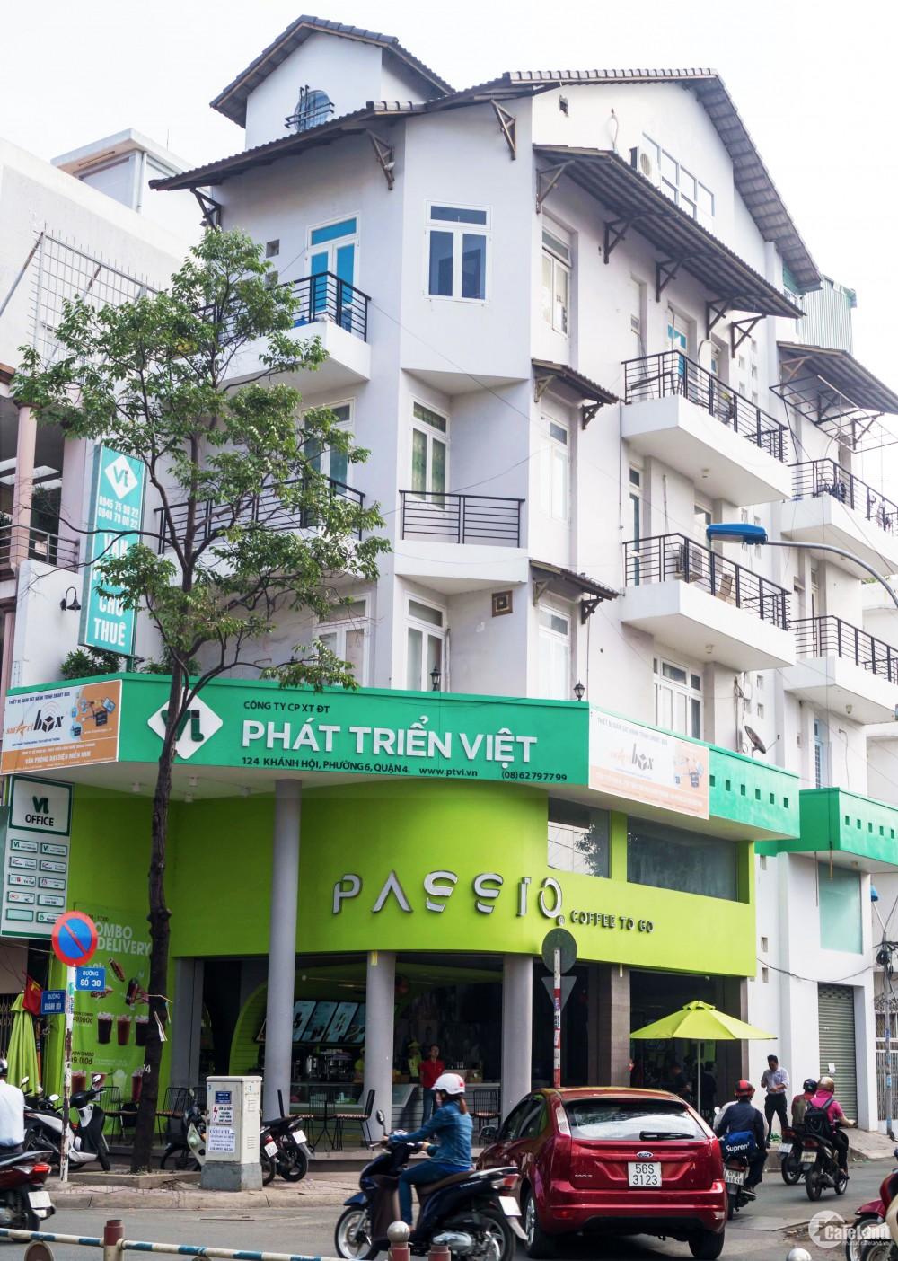 Cho thuê văn phòng 60m2 Khánh Hội, quận 4 giá rẻ.