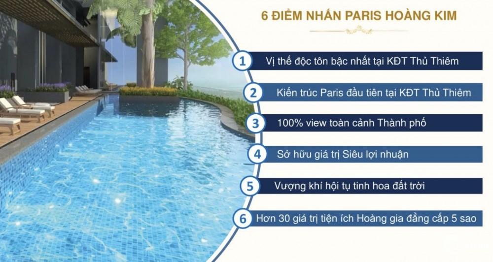 Booking Paris Hoàng Kim Q2 giai đoạn I, thanh toán 50% nhận nhà - chỉ 1%/tháng