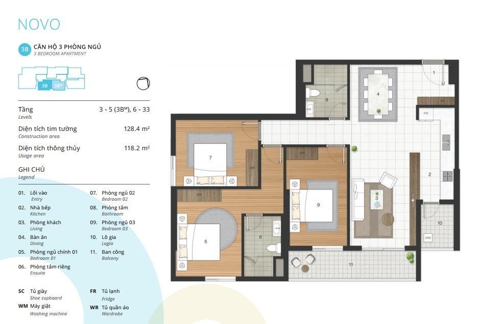 Bán căn hộ tầng đẹp từ tâng 10 -27  tòa Novo - dự án Kosmo Tây Hồ
