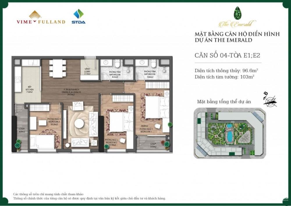 Cần bán căn 04 CT8 Đình Thôn, diện tích 103m2. Giá: 30 tr/m2.