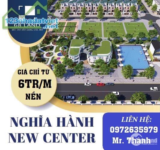 Shophouse mặt tiền dự án Nghĩa Hành New Center - Quảng Ngãi