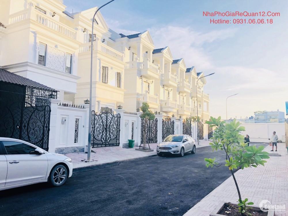 |Bán Nhà Quận 12| Biệt Thự Đường TX33 Trệt 3 Lầu, 4PN, 5WC, Đường 12m, Giá: 6,8