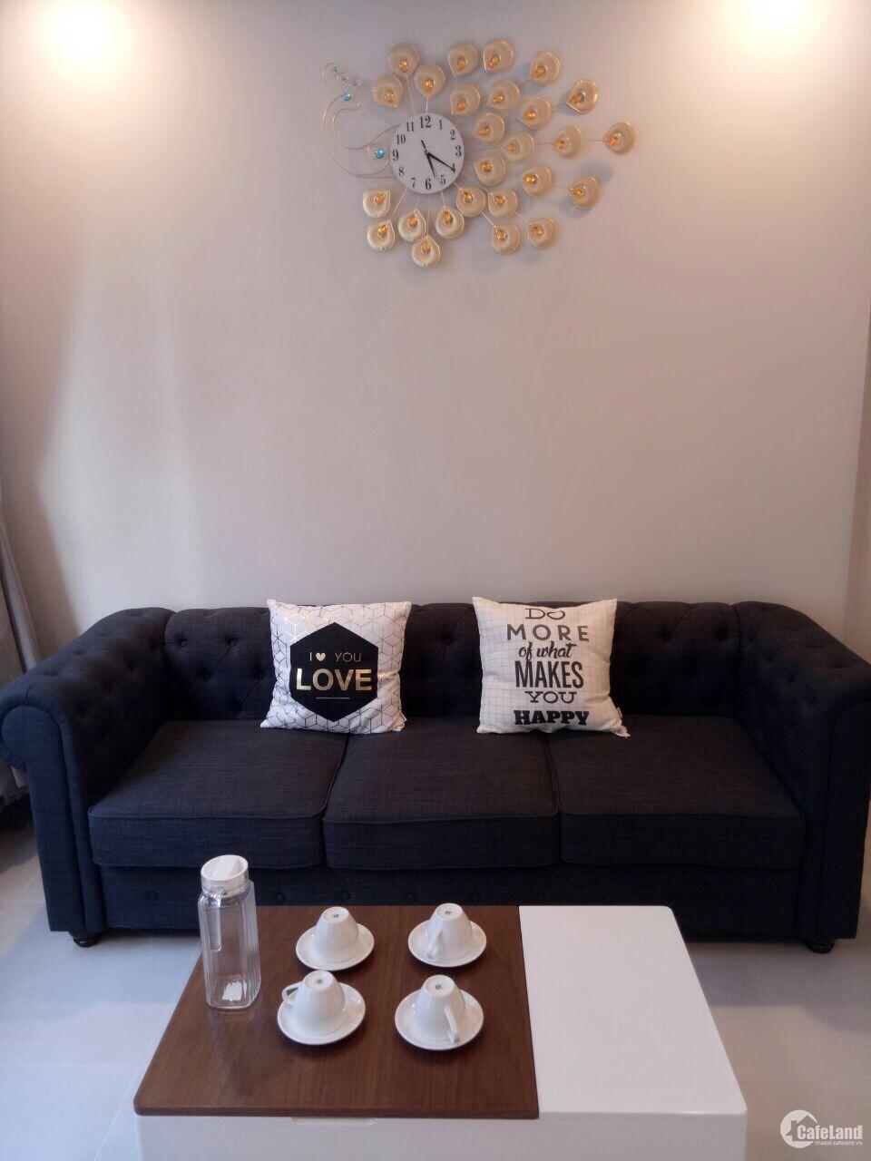 CH Gold View 2PN full nội thất đẹp, có balcony thoáng mát, giá 16tr/tháng