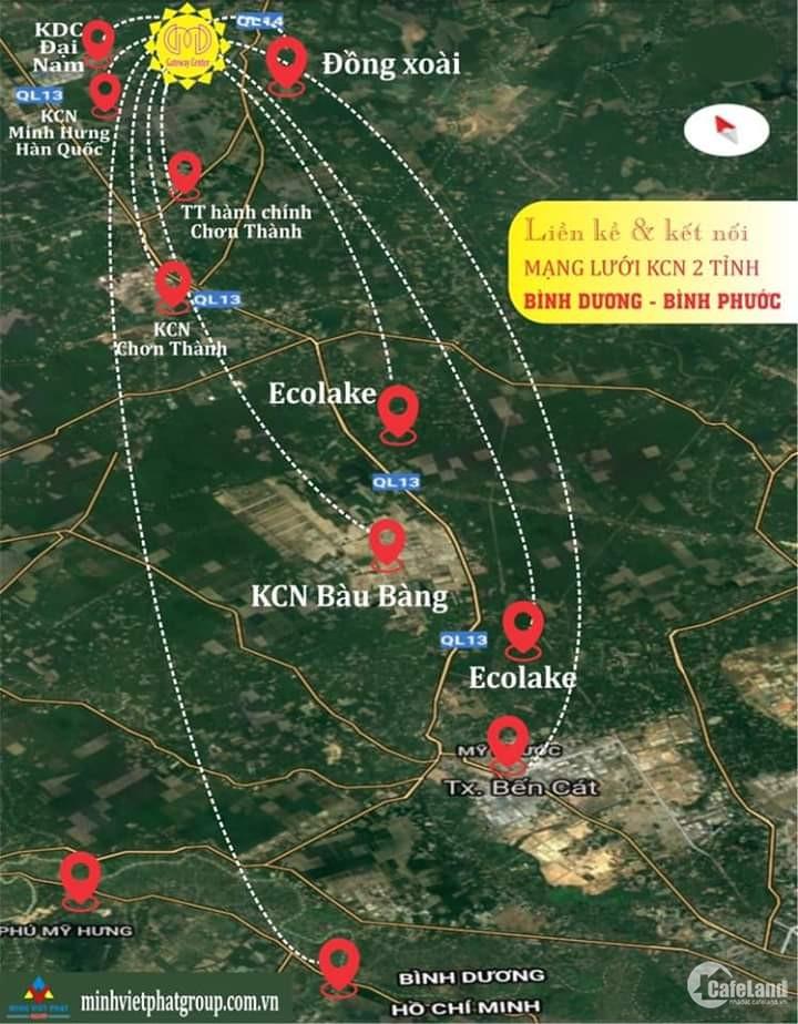 ĐẤT NỀN LIỀN KỀ KCN MINH HƯNG_NGÂN HÀNG HỖ TRỢ 70%_SỔ HÔNG RIÊNG