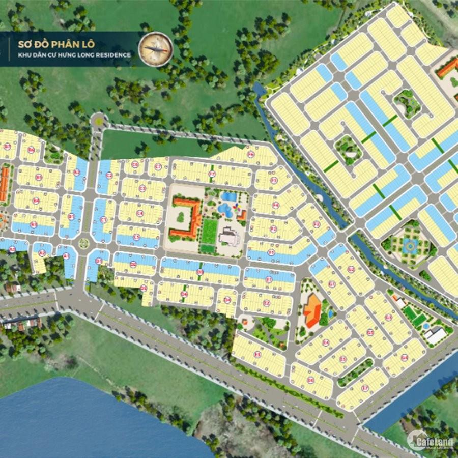 Dự án Hot nhất T8, Hưng Long Residence gần cầu vượt Củ Chi, QL 22. 455tr/nền