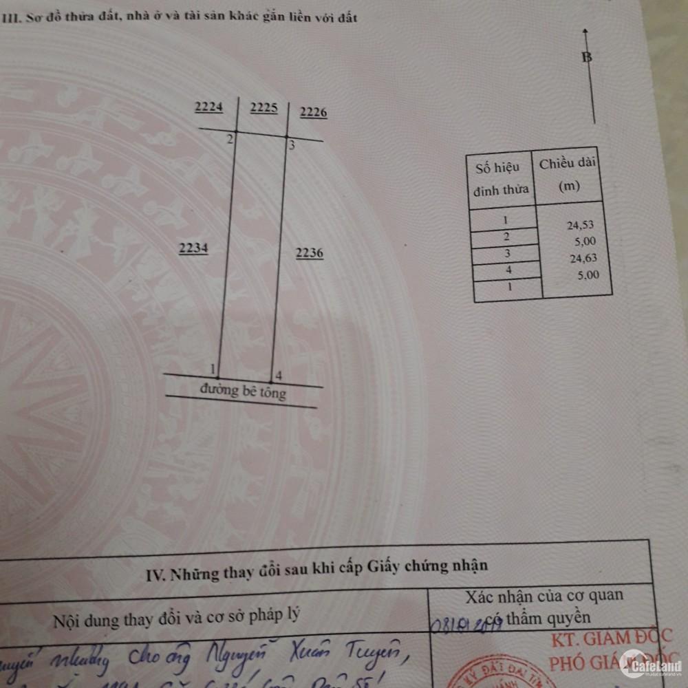 chính chủ bán gấp 123M2 thổ cư khu X Cá Đồng xã Hàm Thắng  giá đầu tư