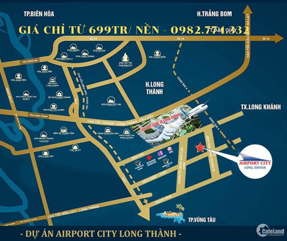 Cơ hội cuối sở hữu đất ngay sân bay # Long Thành # SHR #699 triệu #CK 7%