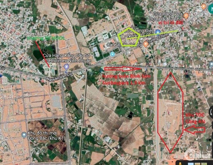 Bán Lô Đất Thổ Cư . TDC Bệnh Viện Tỉnh  Ninh Thuận 100 m2