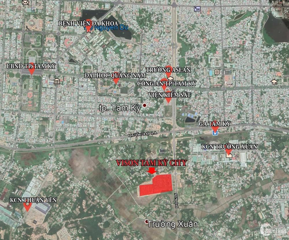 Đất TTTP Tam Kỳ, giá chỉ 1,5x tỷ/nền, sổ đỏ liền tay, đầu tư – an cư.