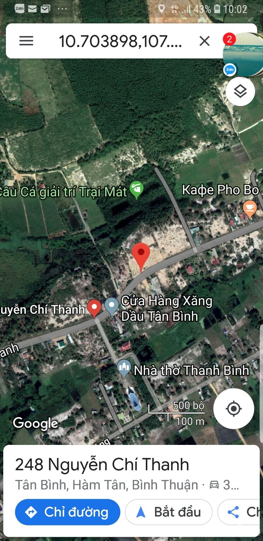 Bán 2 lô đất đẹp Hồ Tôm và Nguyễn Chí Thanh, TX Lagi, giá tốt
