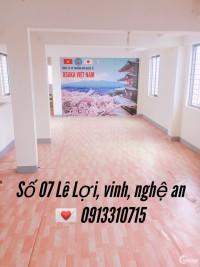 Cho thuê văn phòng đường Lê Lợi, TP Vinh Giá 5tr/tháng